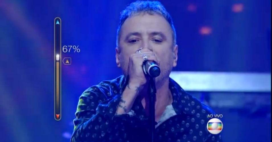 """18.mai.2015 - Em nova fase da competição, duas bandas foram eliminadas por público e jurados na noite deste domingo (17) do """"SuperStar"""". São elas, a veterana Tianastácia, de Belo Horizonte, e os garotos do The Moondogs, de São Paulo. Outras bandas como Scalene (86%), Supercombo (84%), Falange (82%), Stereosound (78%), Big Time Orchestra (77%) e Scambo (76%) foram classificadas e prosseguem no programa"""