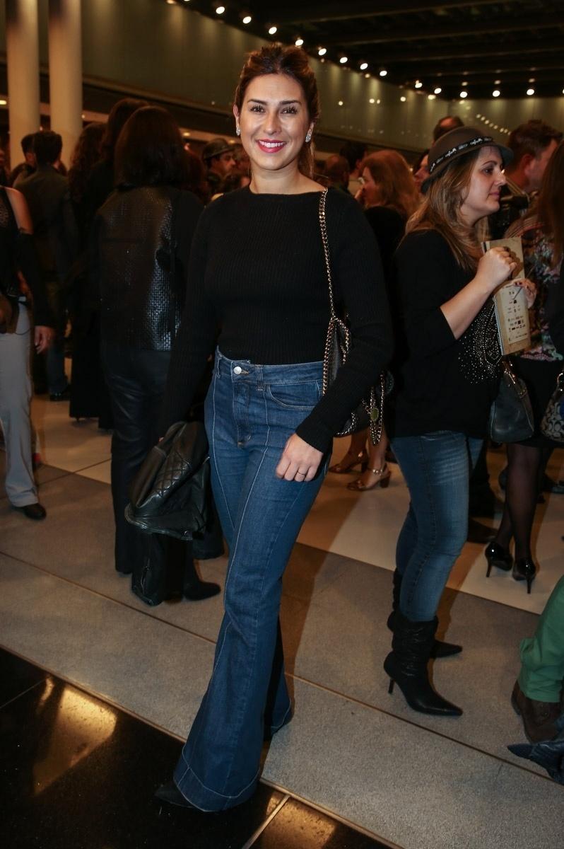 18.mai.2015 - Fernanda Paes Leme foi conferir a estreia de