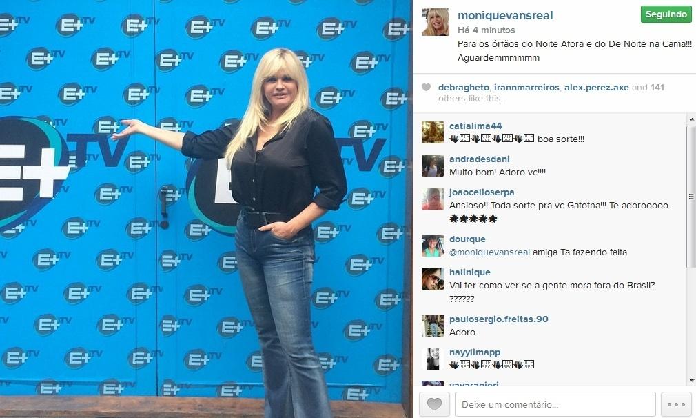 Monique Evans assina com o canal E+
