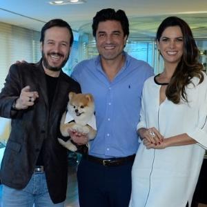 Os apresentadores Celso Zucatelli, Edu Guedes e Mariana Leão têm os seus trabalhos comprometidos - Francisco Cepeda/AgNews