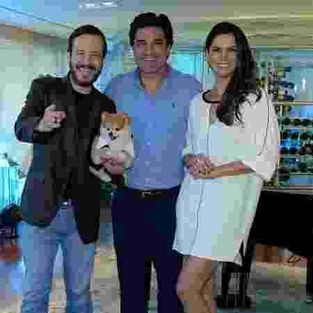 """Celso Zucatelli, Edu Guedes e Mariana Leão apresentam o """"Melhor Pra Você"""", da RedeTV! - Francisco Cepeda/AgNews"""