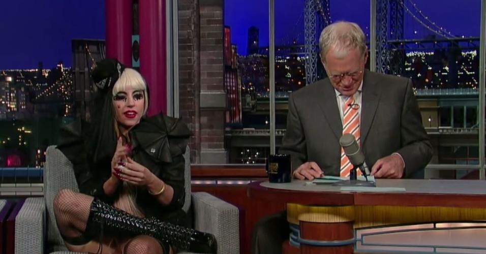 Lady Gaga foi entrevistada por David Letterman em setembro de 2008. Visivelmente farta das perguntas do apresentador sobre a sua vida pessoal, a cantora tirou o papel das mãos de Leterrman e mastigou, levando a plateia e o próprio apresentador aos risos