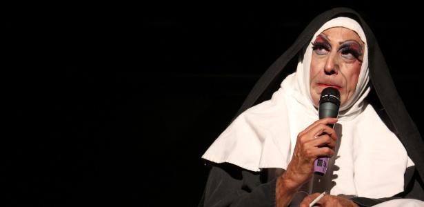 """Octávio Mendes, um dos fundadores do """"Terça Insana"""", vive Irmã Selma, uma freira humorista - Divulgação"""