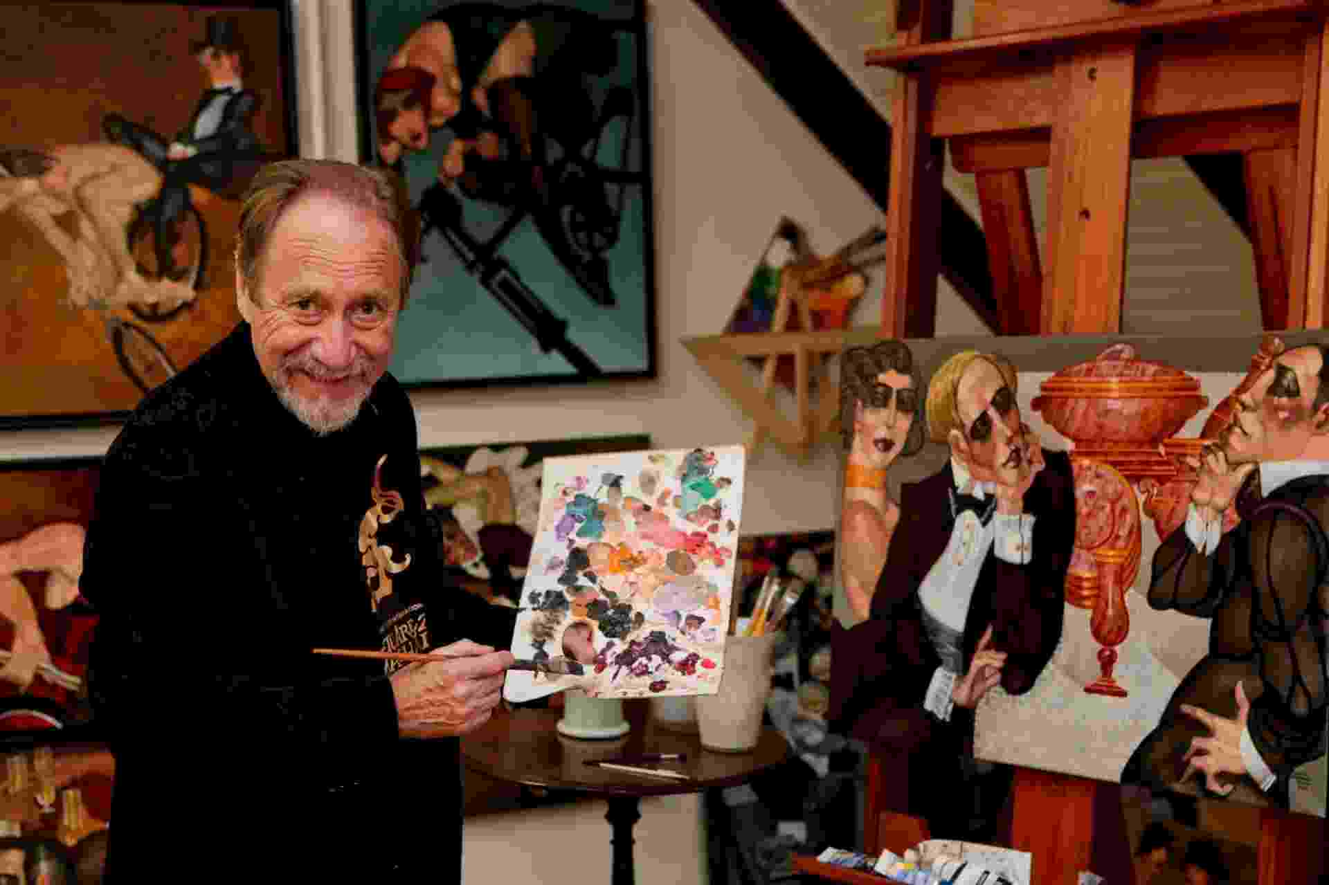 """O pintor catarinense Juarez Machado, cuja obra inspirou as cores do filme francês """"O Fabuloso Destino de Amélie Poulain"""" (2001), de Jean-Pierre Jeunet - Divulgação"""