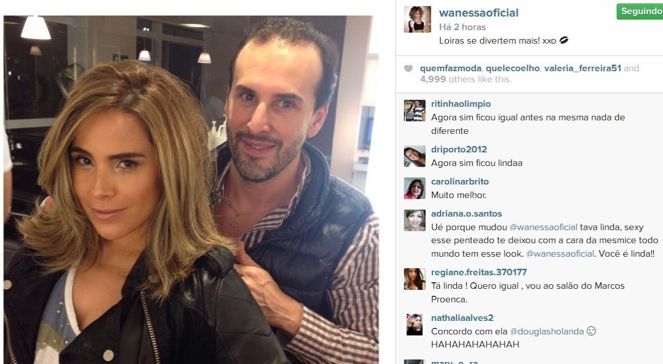 20.mai.2015- Cantora Wanessa aparece com os cabelos alisados e mais claros e comenta: