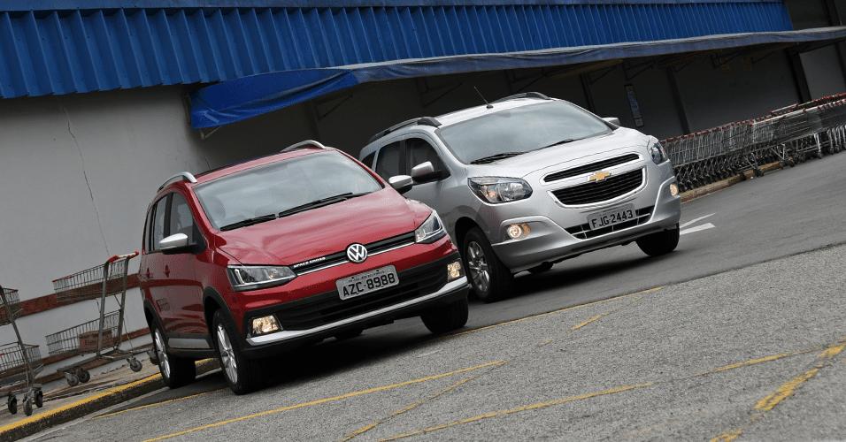 Chevrolet Spin LTZ A/T e Volkswagen SpaceCross