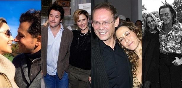 Da esquerda para a direita, Guilhermina Guinle com o atual marido Leonardo Antonelli, com Murilo Benício, José Wilker e Fábio Junior