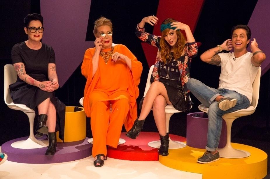 Rogéria, Thammy, Fernanda Young e Titi Müller se divertiram bastante durante as gravações de mais um