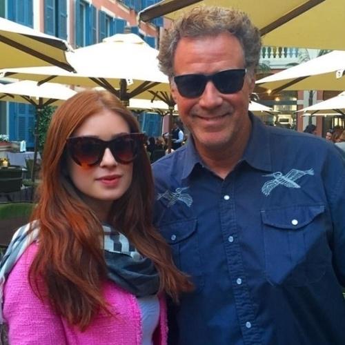 21.mai.2015 - De férias na Itália, Marina Ruy Barbosa tieta o comediante Will Ferrell
