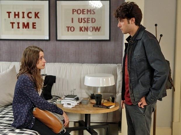 21.mai.2015 - Rafael e Laís se encontram e tentam reatar romance