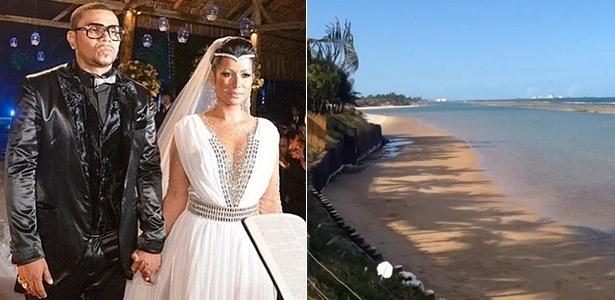 Naldo e Moranguinho curtiram a lua de mel em um resort de luxo na praia Muro Alto, em Porto de Galinhas (Pernambuco). Porto de Galinhas é um dos destinos mais cobiçados para viagens entre os recém-casados. O resort escolhido pelo casal tem diárias entre R$ 2 mil e R$ 3 mil, para o
