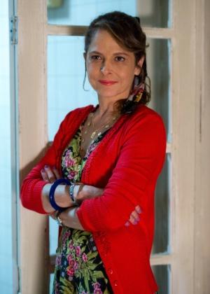 """22.mai.2015 - Drica Moraes grava como Carolina, personagem da novela """"Verdades Secretas"""". Ela foi escalada para substituir Deborah Secco, que deixou o elenco após anunciar sua primeira gravidez"""