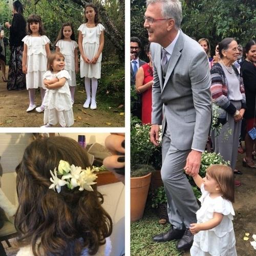 23.mai.2015 - Cenas do casamento dos jornalistas Pedro Bial e Maria Prata, compartilhadas pelo hair stylist das famosas, Marcos Proença