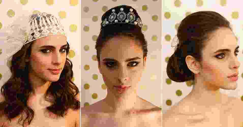 Além do véu, existem diferentes tipos de acessórios de cabelo para usar no dia do casamento. A seguir, veja sugestões de penteados para cada estilo de noiva - Junior Lago/UOL