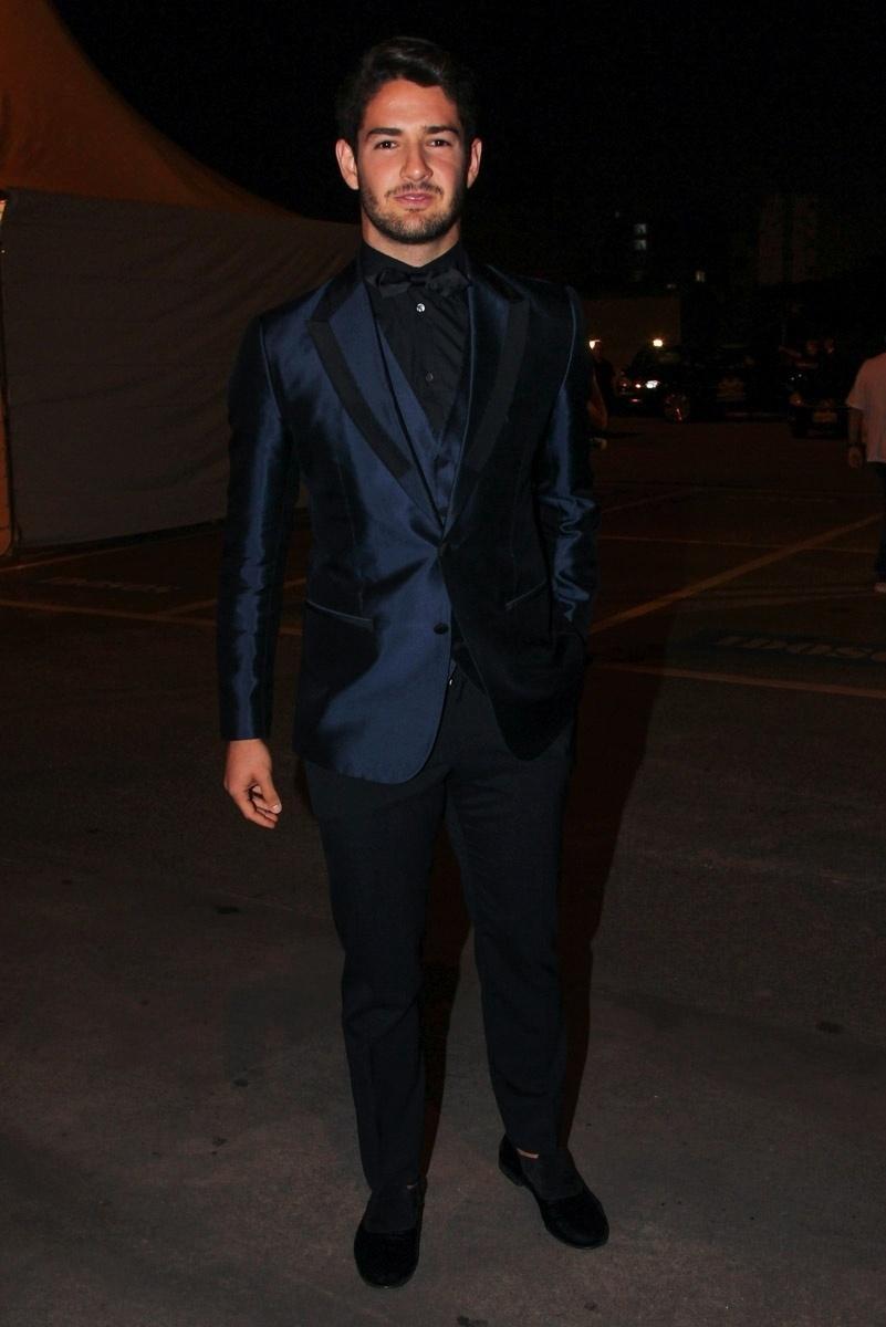 25.mai.2015 - Alexandre Pato participa da segunda edição do BrazilFoundation, baile de gala beneficente, na noite desta segunda-feira, na Sala São Paulo, centro da capital paulista