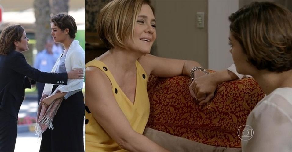 A relação de Alice (Sophie Charlotte) com a mãe, Inês (Adriana Esteves): no princípio, se odiavam e isso rendia discussões homéricas. Hoje, uma morre de amor pela outra, só porque Inês sofreu um atentado
