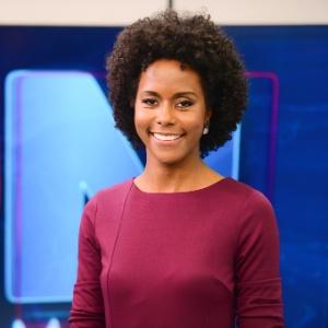 """Maju  estreou como moça do tempo do """"JN"""" no dia 27 de abril - Divulgação/Globo/Zé Paulo Cardeal"""