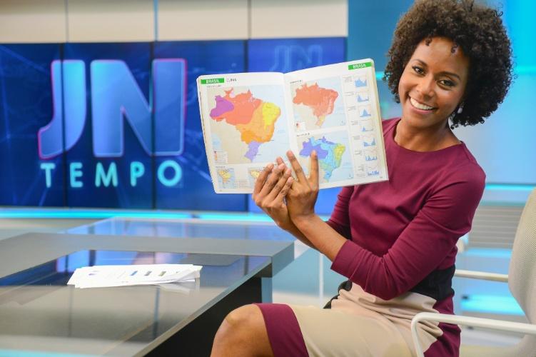 """Maria Júlia Coutinho estreou como moça do tempo do """"Jornal Nacional"""" no dia 27 de abril"""