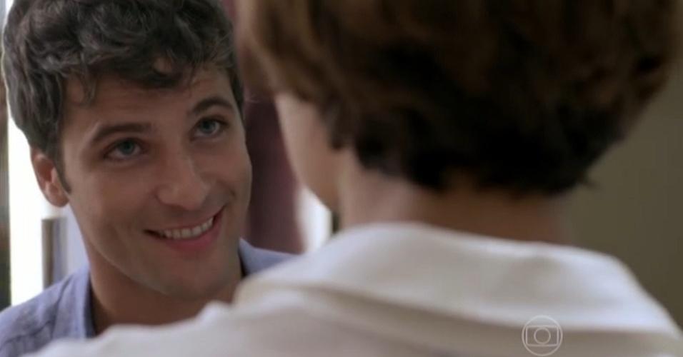 """Murilo (Bruno Gagliasso): cafetão que fazia a linha romântico. Sem mais nem menos, resolveu """"deixar dessa vida"""". Simples assim"""