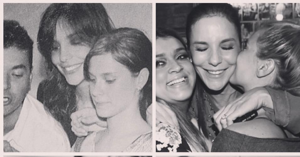 27.mai.2015 - Carolina Dieckmann declara seu amor por Ivete Sangalo no dia do aniversário de 43 anos da cantora