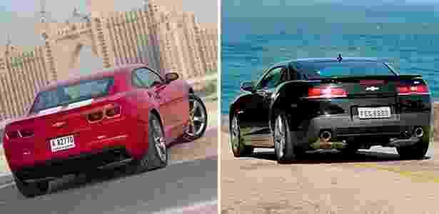 Camaro novo e antigo - Arte UOL Carros - Arte UOL Carros