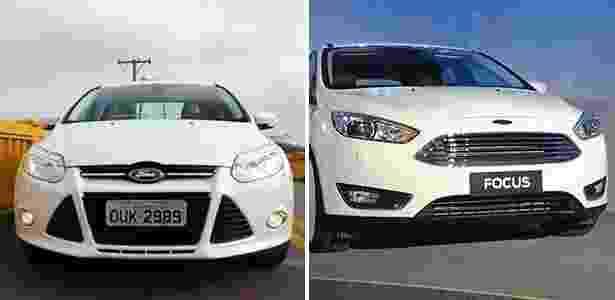 Focus novo e antigo - Arte UOL Carros - Arte UOL Carros