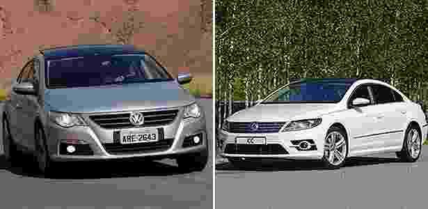 Volkswagen CC novo e antigo - Arte UOL Carros - Arte UOL Carros