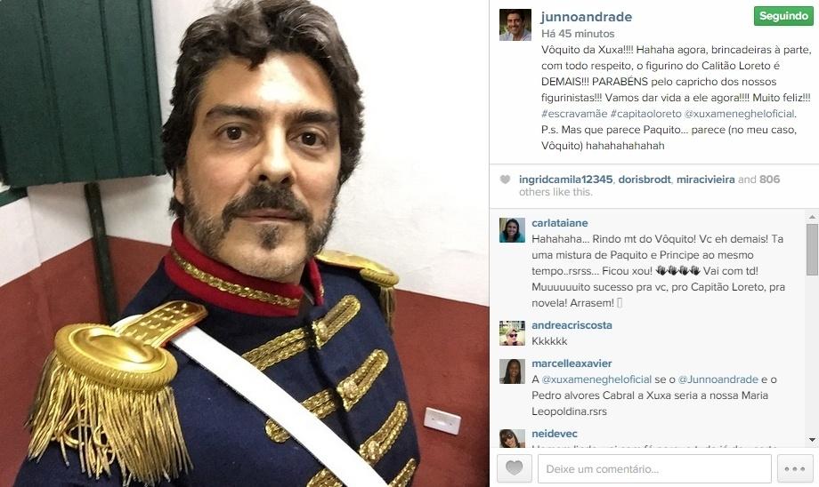 29.mai.2015 - Junno Andrade, que estará na próxima novela da Record,