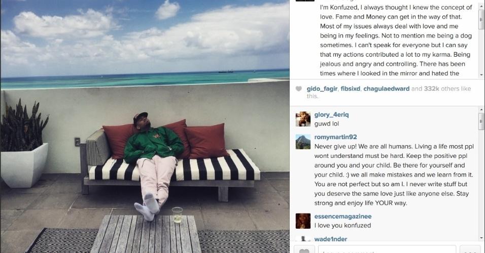 29.mai.2015 - Na tarde desta quinta-feira (28), o rapper Chris Brown usou seu perfil no Instagram para falar sobre as polêmicas em que se envolveu no passado