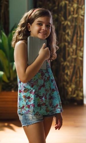 A atriz mirim Mel Maia interpretou a garota Julia