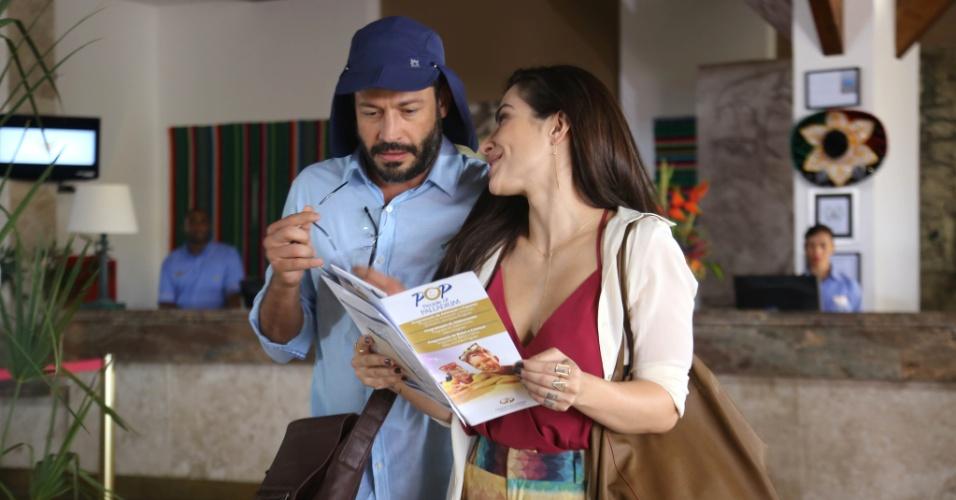 Tati (Cléo Pires) e Conrado (Malvino) viajam para Cancun no filme