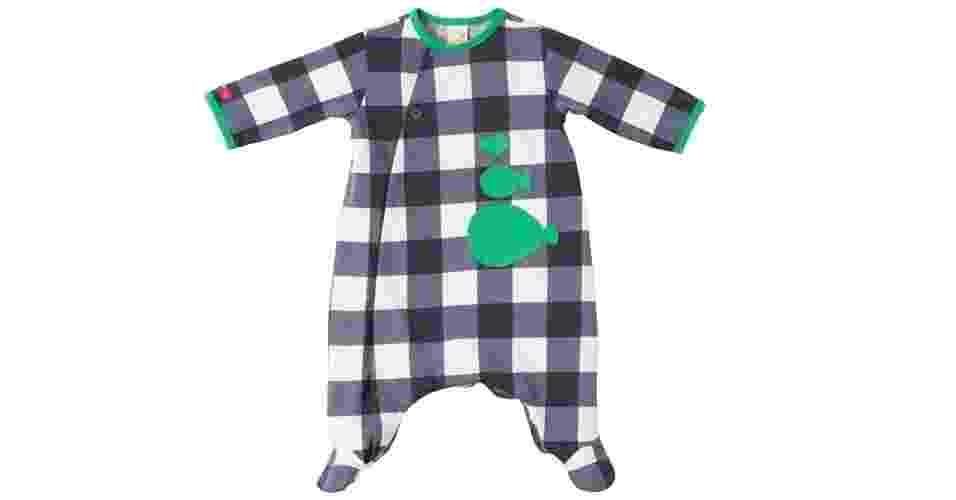 Body de malha 100% algodão com aplicação de peixes, da Green (www.lojagreen.com.br). Disponível para crianças de zero a três meses. R$ 119. Preço pesquisado em junho de 2015 e sujeito a alterações - Divulgação