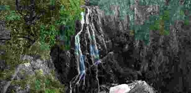 Cachoeira Ave Maria, queda de 125 metros que só pode ser vista do alto de um mirante - Eduardo Vessoni/UOL