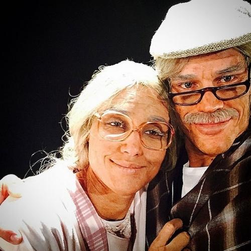 """07.jun.2015 - Débora Nascimento e José Loreto, que se casaram às escondidas em uma cerimônia íntima em Abu Dhabi, nos Emirados Árabes, participaram de um quadro do """"Fantástico"""", da Globo, no qual foram transformados em velinhos"""