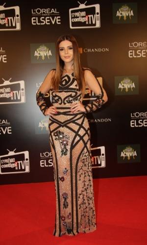 """8.jun.2015 - A atriz Giovanna Lancelotti comparece ao """"Prêmio Contigo! de Televisão"""", que acontece na noite desta segunda-feira, no Copacabana Palace, Rio de Janeiro"""