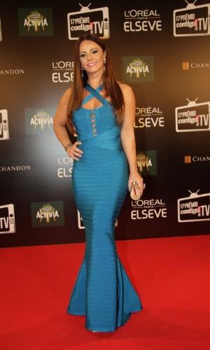 """8.jun.2015 - Viviane Araújo ganhou o prêmio de revelação por seu papel como a Naná de """"Império"""""""
