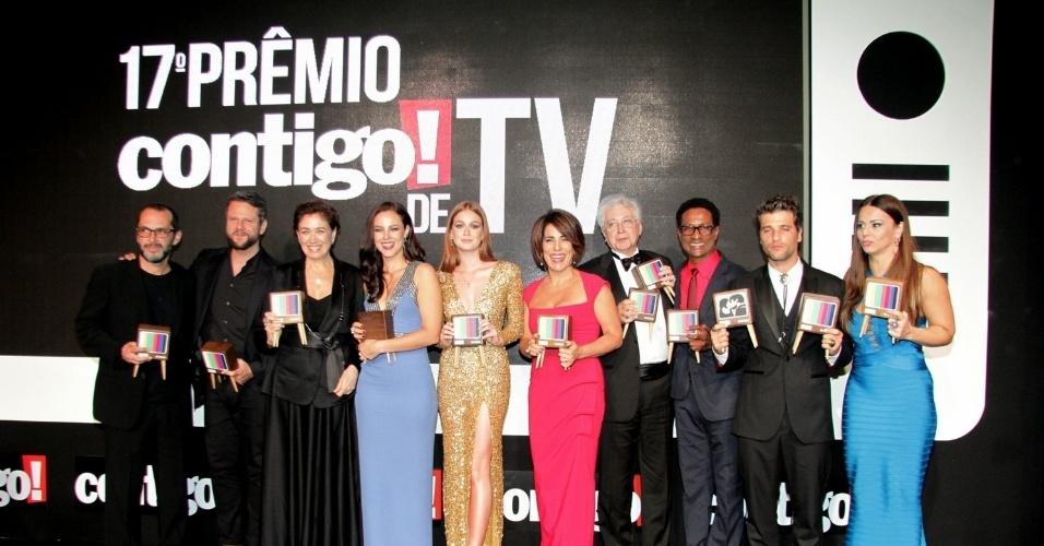 """8.jun.2015 - Vencedores do """"17º Prêmio Contigo! de Televisão"""""""