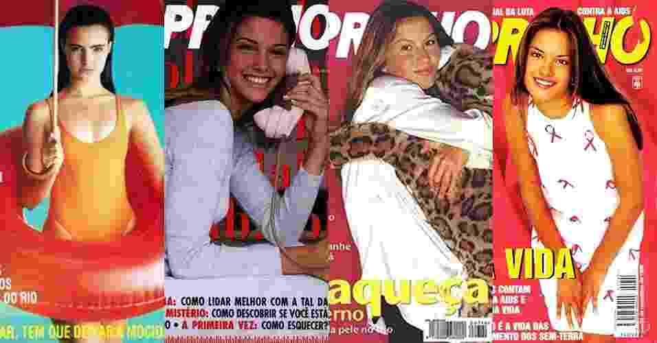Capas revistas Capricho anos 80/90 - Reprodução/MontagemUOL