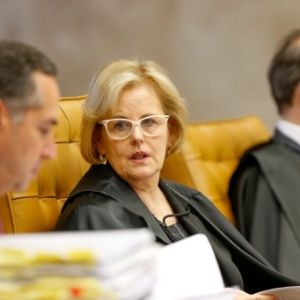 A ministra Rosa Weber durante sessão plenária do STF