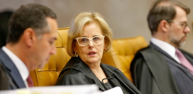 A ministra Rosa Weber durante sessão plenária do STF (Supremo Tribunal Federal)