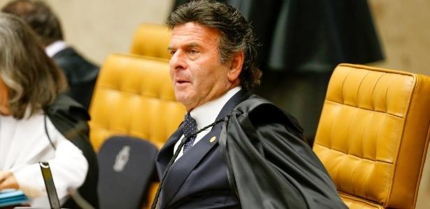 O ministro Luiz Fux durante sessão plenária do STF (Supremo Tribunal Federal)