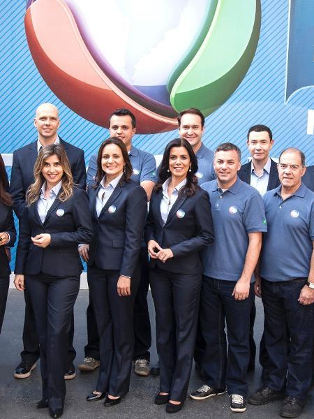 Parte da equipe que a Record enviou para cobrir o Pan de Toronto, em 2015 - Edu Moraes/Divulgação/TV Record