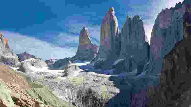 As três torres do Parque Nacional Torres del Paine, no Chile - Getty Images - Getty Images