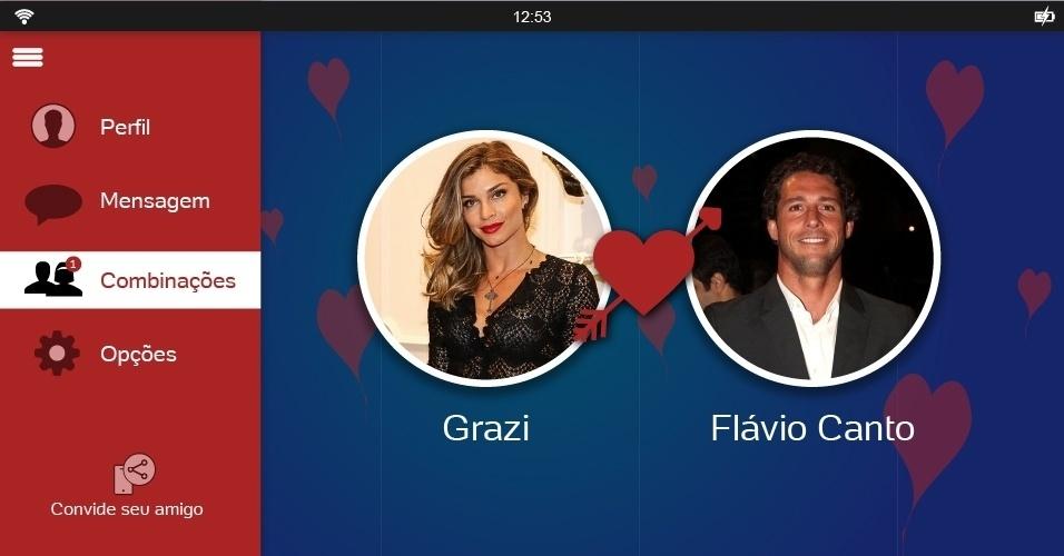 Flávio Canto e Grazi poderiam formar um belo casal. De acordo com a apuração do UOL, os dois se aproximaram em novembro do ano passado durante a gravação da temporada de verão do programa