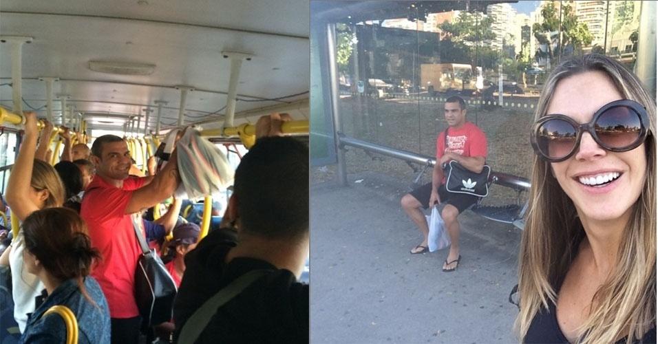 Joana Prado e Vitor Belfort vão trabalhar de ônibus para ver como está o transporte público no Rio de Janeiro