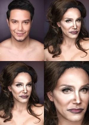 Paolo Ballesteros quis homenagear a transgênero Caitlyn Jenner - Instagram/pochoy_29