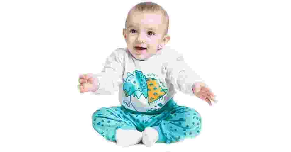 Pijama de algodão, da Cara de Criança, à venda na BMart (www.bmart.com.br). Disponível do tamanho PP (para bebês) ao quatro anos. R$ 49,90. Preço pesquisado em junho de 2015. Sujeito a alterações - Divulgação