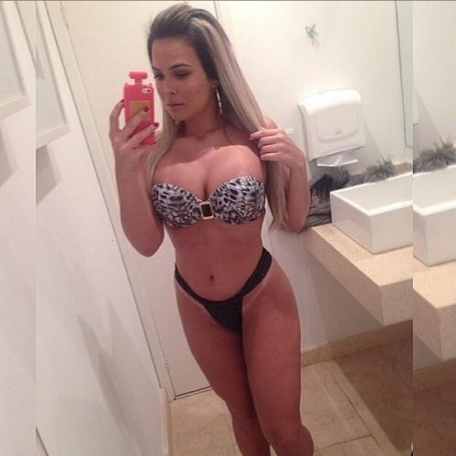 17.jun.2015 - Na tarde desta quarta-feira, Geisy Arruda postou uma foto no Instagram em que aparece de biquíni em uma clínica de estética.