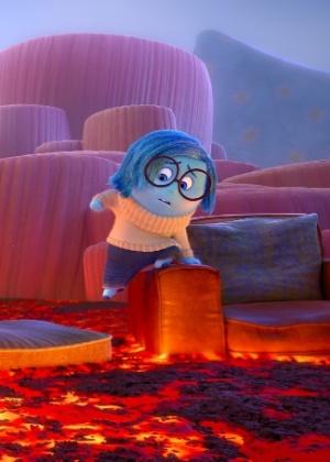 """A personagem Tristeza em cena da animação """"Divertida Mente"""" - Divulgação"""