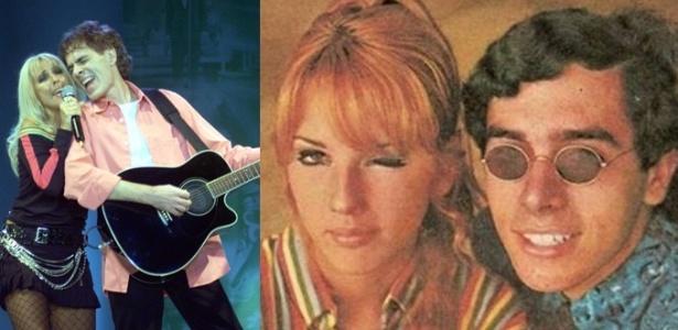 Leno e Lilian em 2005 (esq.), quando cantaram juntos pela última vez, e nos anos 1960 - Divulgação